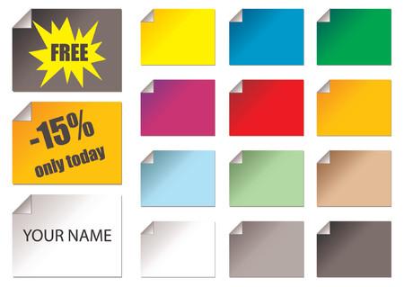 them: Promozionali adesivi con colori diversi e possono facilmente positions.You ruotare. Rimuovere il campione di testo o utilizzarlo come essa �. Pu� essere utilizzato anche come biglietti da visita.