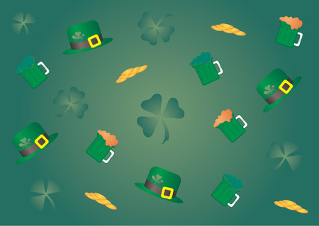 St Patricks Day colorful theme Vector