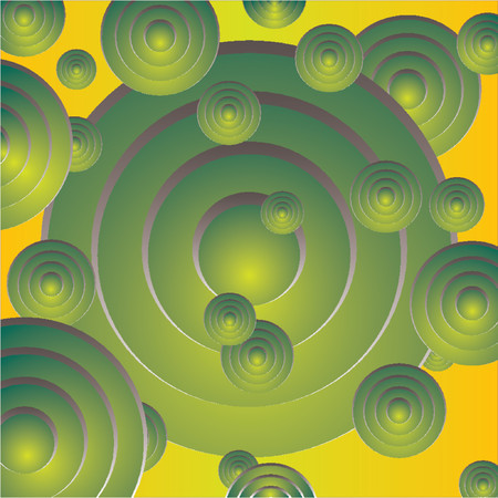 Abstract pattern with different size circles and colors