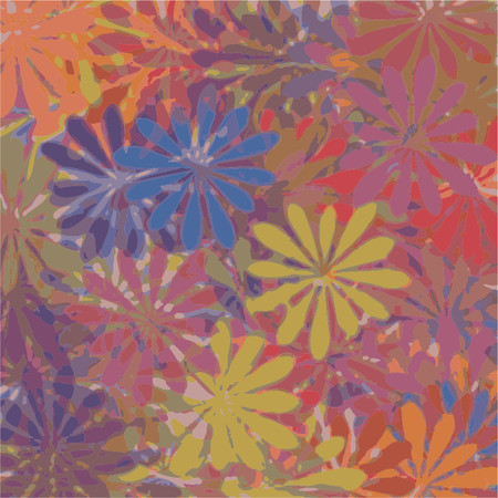 flowered: Abstract, ornamental and colorful flowered pattern Illustration
