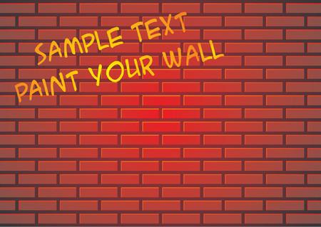 rubble: Pared de ladrillo rojo o antecedentes adecuados para pintar algunos de graffiti Vectores