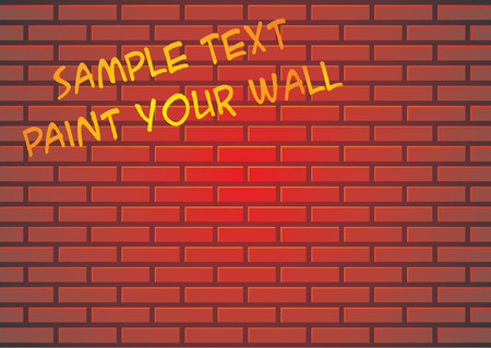 Red brick wall suitable for backgrounds or paint some graffiti Vector