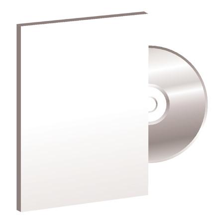 cd case: Caja de DVD y CD m�s de fondo blanco