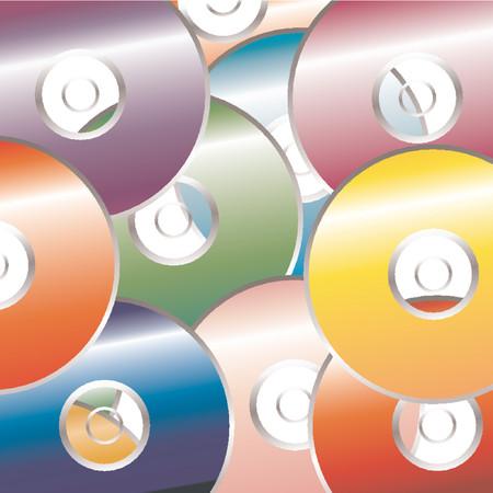cd case: CD DVD patr�n de color sobre fondo blanco Vectores