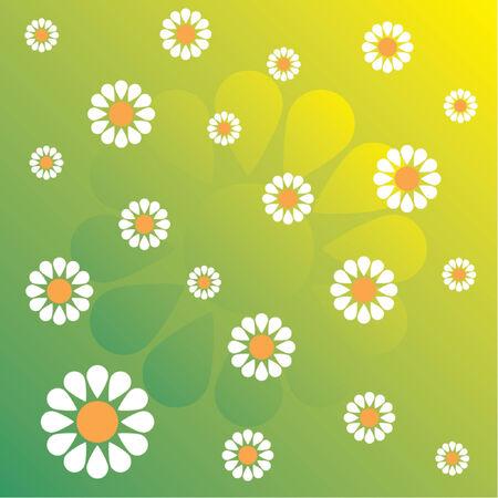 Flower pattern evoking spring time Vector