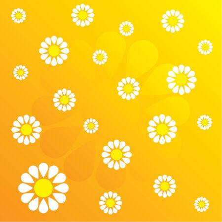 evoking: Flower pattern evoking spring time Illustration