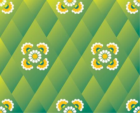 Flower pattern wallpaper evoking spring time Vector