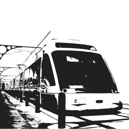 passing: El tren pasa por m�s de fondo blanco