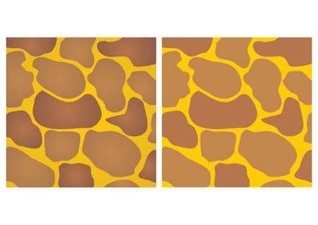 Abstract giraffe skin pattern. Two versions. With solid and gradient colors. Vector
