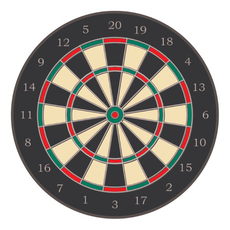 intention: Dartboard illustration isolated over white background