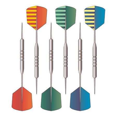 Set of darts isolated over white background Stock Vector - 866689