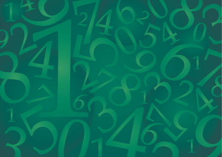 Abstract numeric pattern with green tones