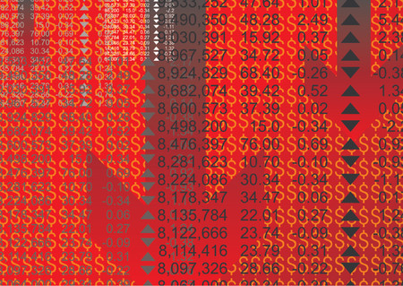 Abstract pattern with stock market financial figures Vector