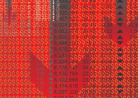 sales executive: Resumen patr�n de mercado de valores con los datos financieros  Vectores