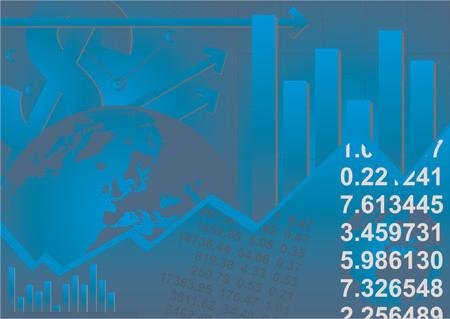 demografico: Graphic gr�ficos, cifras financieras y del mundo globo  Vectores