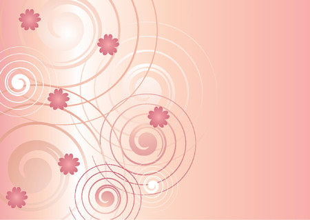 Abstract spiral pattern over gradient background Ilustrace