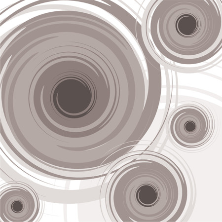 uniformity: Abstract spiral pattern with different tones of gray over white background