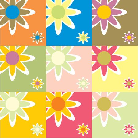 seasonable: Floral pattern with lots of different colors Illustration