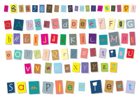 시뮬레이션: Isolated letters press cutting simulation. Write your own words.