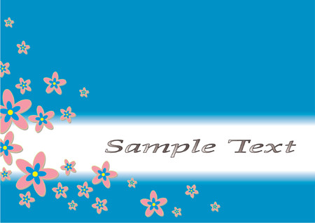 uniformity: Floral theme and shield with copy space over white background Illustration