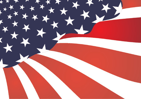 United states colors. United states abstract flag Vector