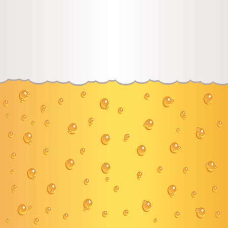 Glass of beer with bubbles and foam Vector