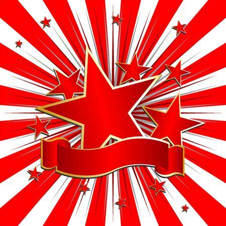 conquistando: Cinta estrellas, decorado con m�s de fondo de rayas