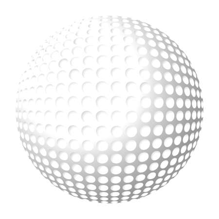 Golf ball isolated over white background Stock Vector - 1512063