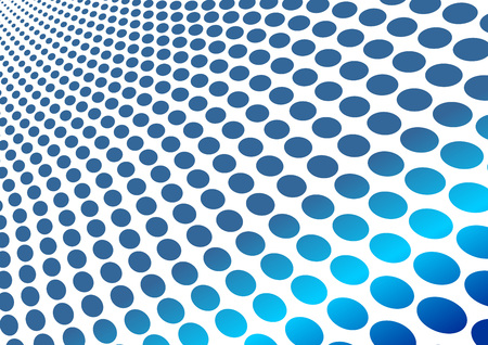 customisable: Abstract blue wavy circles background over white Illustration