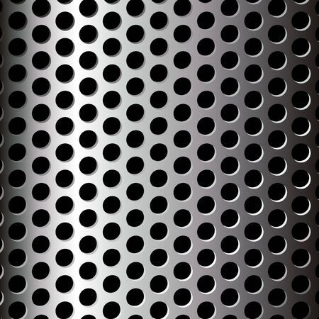 Perforated metallic pattern over black background Vector