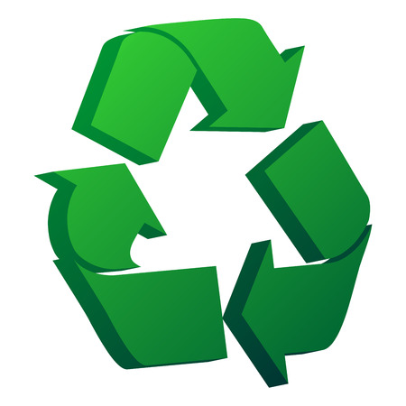 3D recycle symbol isolated over white background Vector