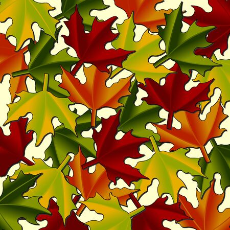 throughout: Maple leaves pattern throughout the year look