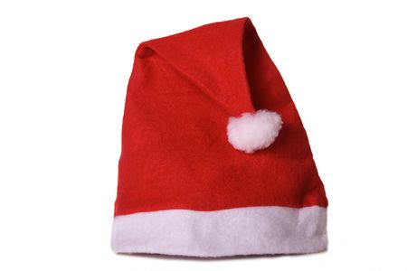 kringle: Santa Claus cap isolated over white background