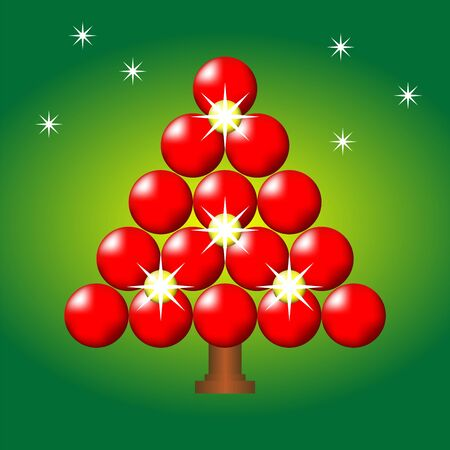 Christmas tree over gradient background Vector
