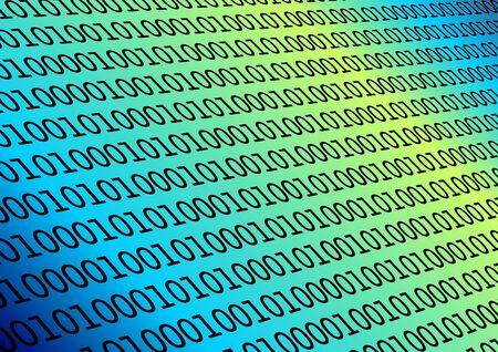 Fondo con colores binarios del azul de los datos y del gradiente Foto de archivo - 1888401