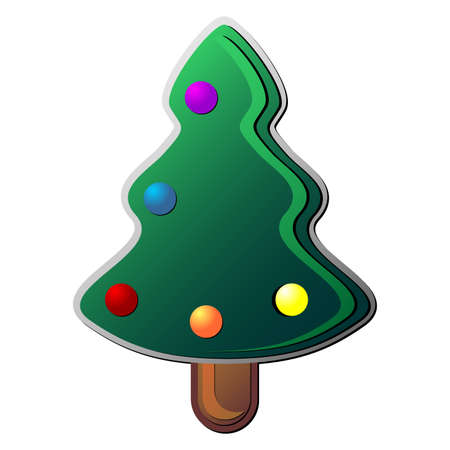 Christmas tree over white background Vector