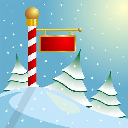 North Pole sign with copyspace photo