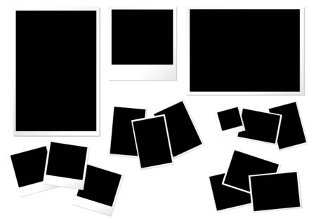 formats: Photo paper templates with different formats sizes and orientations Stock Photo