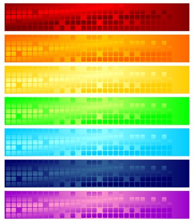 Different color banners that can be used as web headers Stock Photo - 2341707