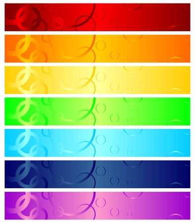 vector banners or headers: Different color headers that can be used as web banners