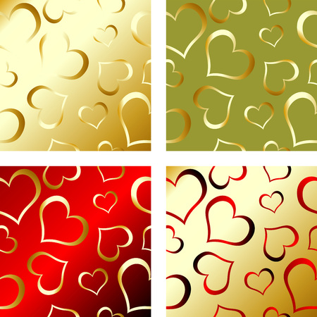 Four independent seamless patterns with valentines theme Stock Vector - 2360047