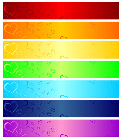 Different color headers that can be used as web banners