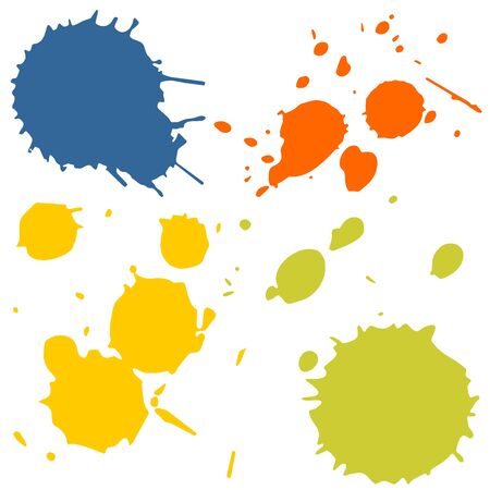 spitting: Different ink splashes with different colors easily changeable
