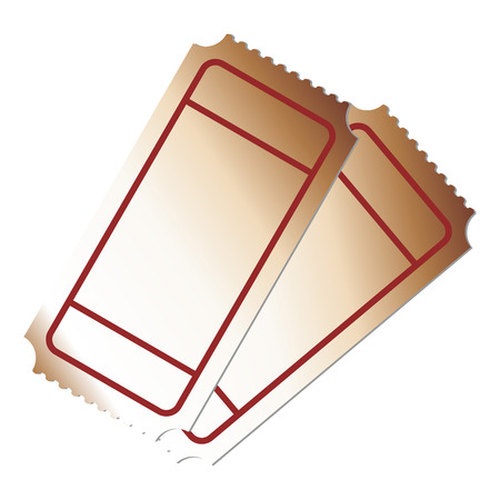 coaster: Blank tickets on top of each other Illustration
