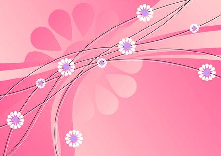 evoking: Flower pattern in tones of pink evoking spring time Illustration