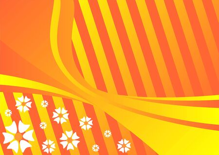 evoking: Flower pattern in tones of orange evoking spring time Stock Photo