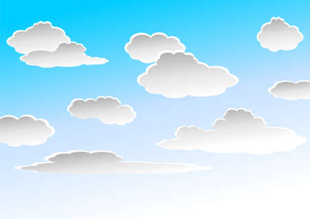 seasonable: Gray clouds over blue to white gradient sky