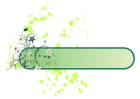 spitting: Flowers banner and splash with copy space over white