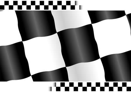 Checkered flag with white copy space at top and bottom Stock Photo