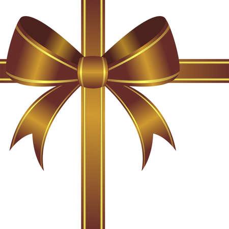 goldish: Goldish ornamental bow isolated over white background